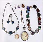 Collection of multistone goldfilled sterling