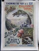 Vintage Travel Poster, Georges Gerdolle, Bains Les