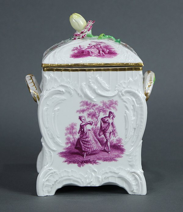 KPM lidded porcelain urn