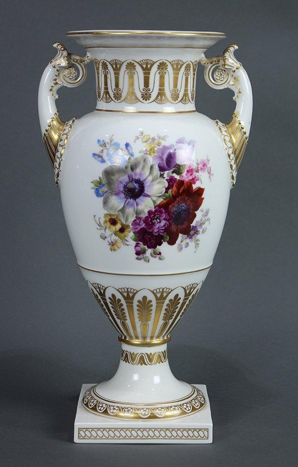 KPM hand painted porcelain urn