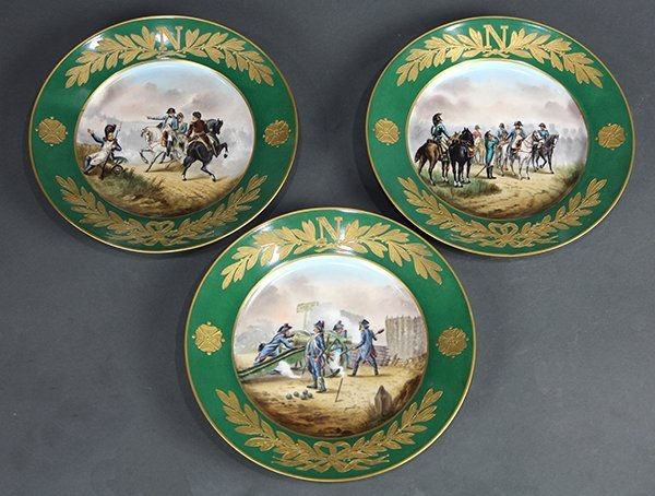 (lot of 3) Sevres Napoleonic cabinet plates