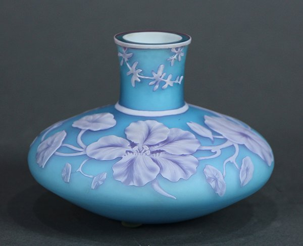 Continental cameo glass vase