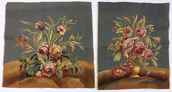 (lot of 2) Aubusson style tapestries