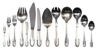 Danish Georg Jensen sterling silver flatware service