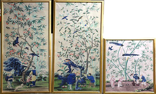 Chinese Framed Wall Paper