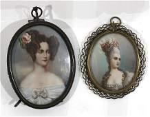 Portraits of a Ladies, miniature portraits