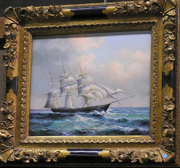 1: Painting of a clipper ship, David Burton