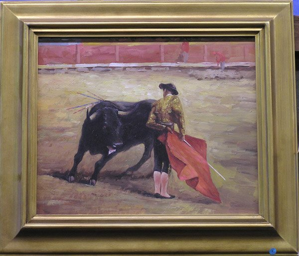 4: Oil on canvas matador and bull