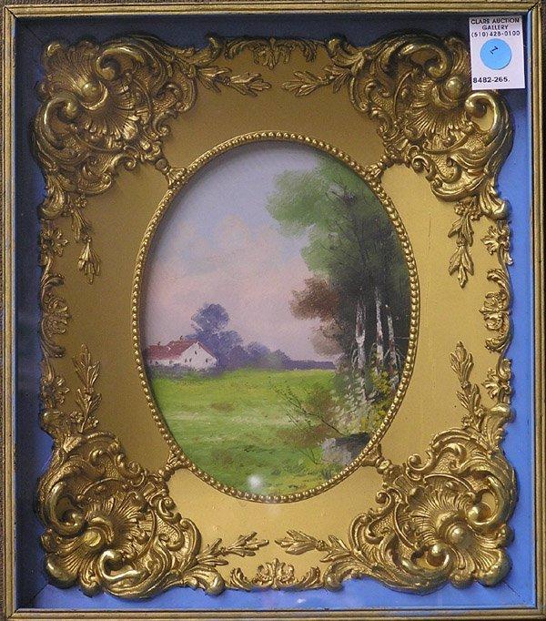 7: Hudson School pastel landscape