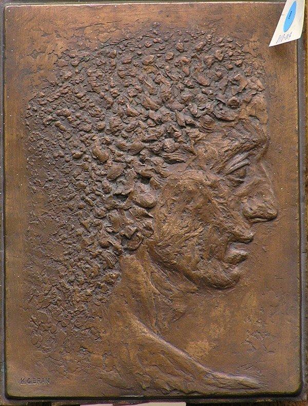 9: Kahlil G. Gibran, American, bronze