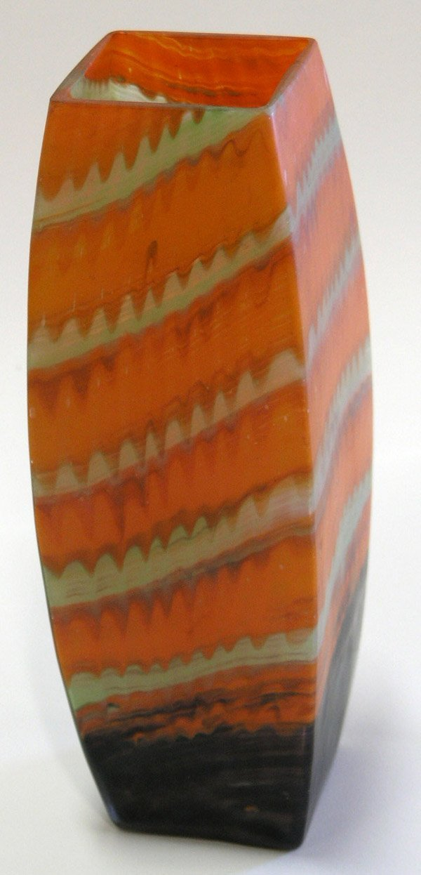 16: Snyhder style art glass vase