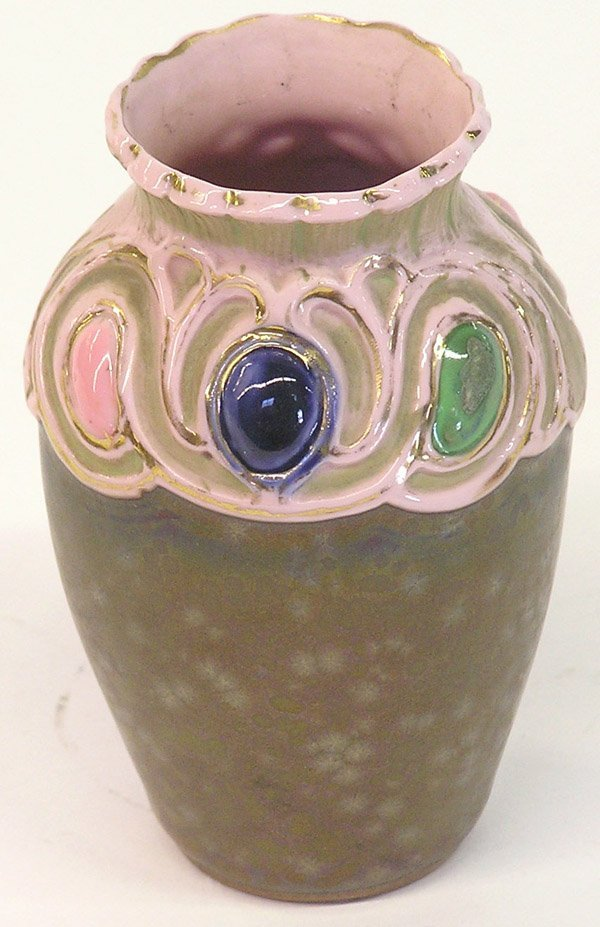 22: Art pottery iridescent vase