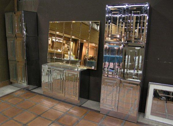 159: Modular Pop-Art Mirrored Wall Unit
