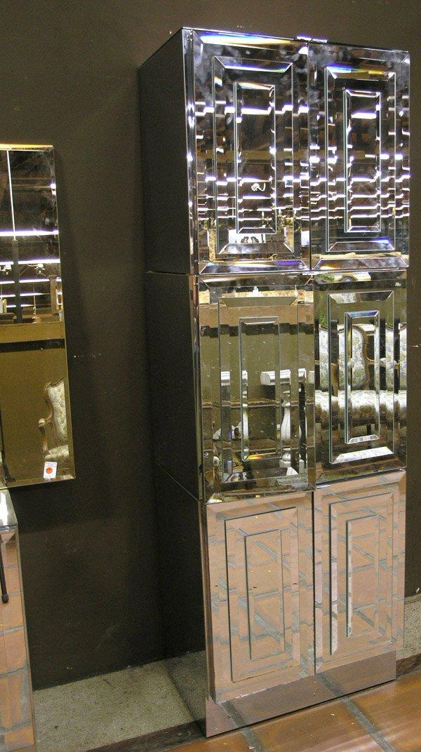 159: Modular Pop-Art Mirrored Wall Unit - 2
