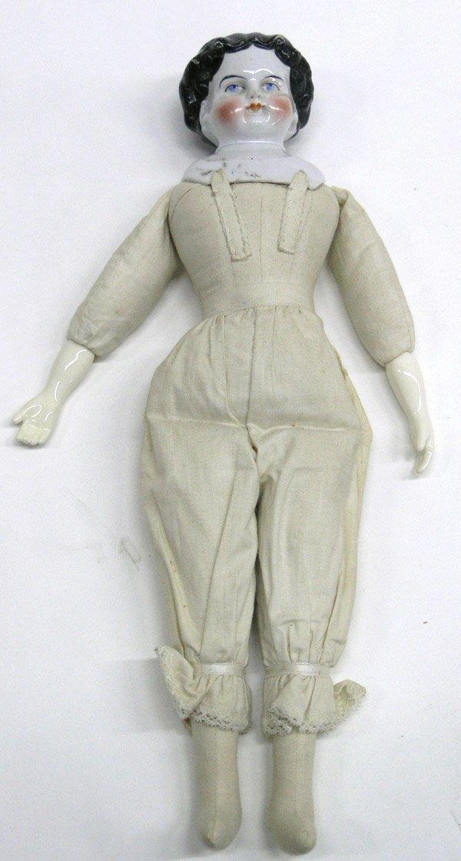 1801: Black flattop china doll