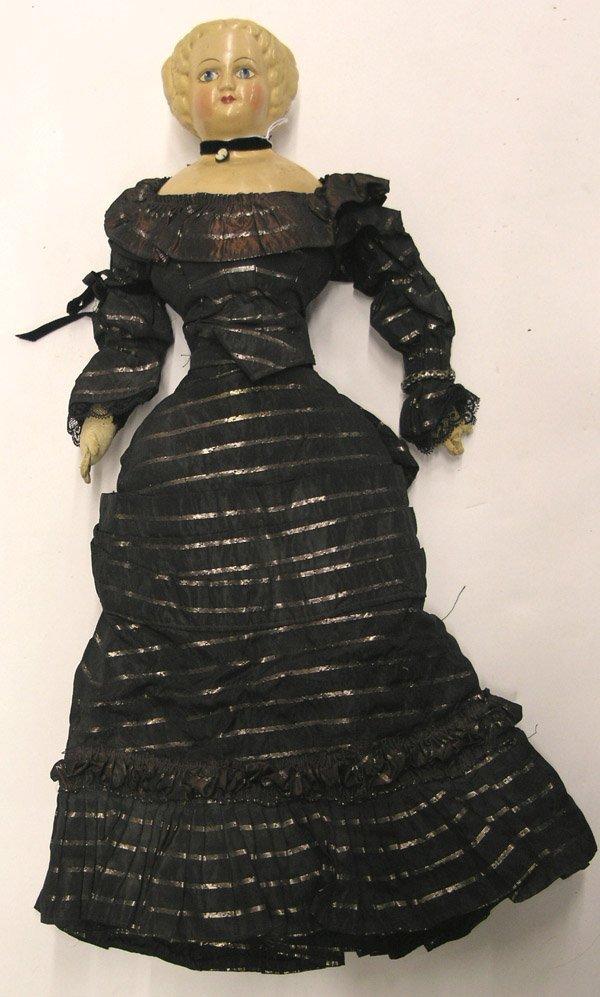 1804: Paper mache flattop doll head