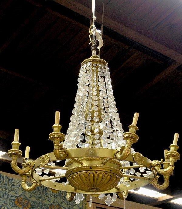 2349: Bronze 8-light chandelier