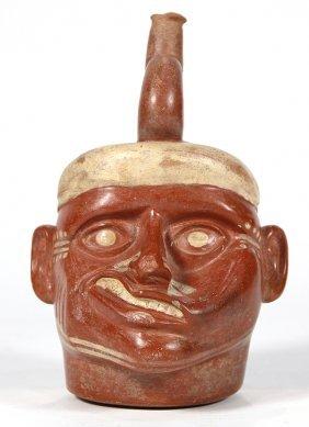 Pre-columbian, Peruvian Moche Terracotta Portrait