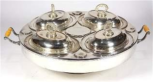 English silverplate lazy susan