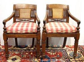 Pair Of Regency Style Armchairs