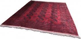 """Afghan Turkoman Carpet, 10'11"""" X 13'2"""""""