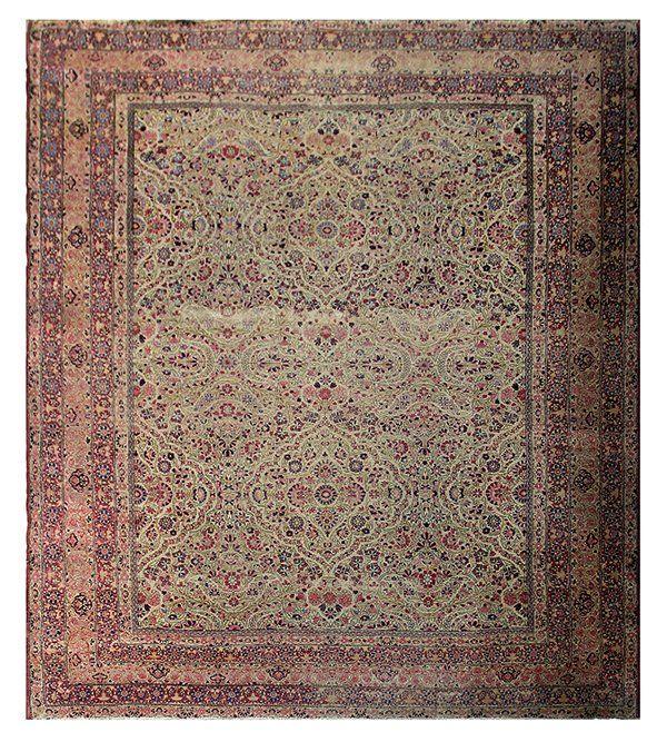 Antique Persian Lavar Kerman carpet, Southeast Persia,