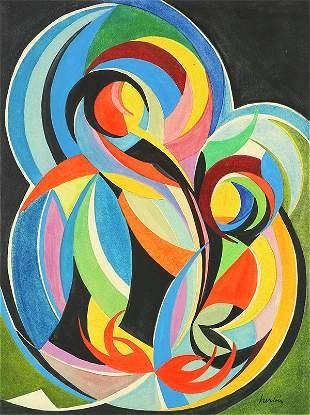 Work on Paper, Auguste Herbin, Mouvement Coloré