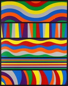 Print, Sol Lewitt, Untitled - Waves And Lines, 1998
