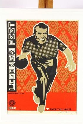 Print, Shepard Fairey, Richard Nixon Big Lebowski