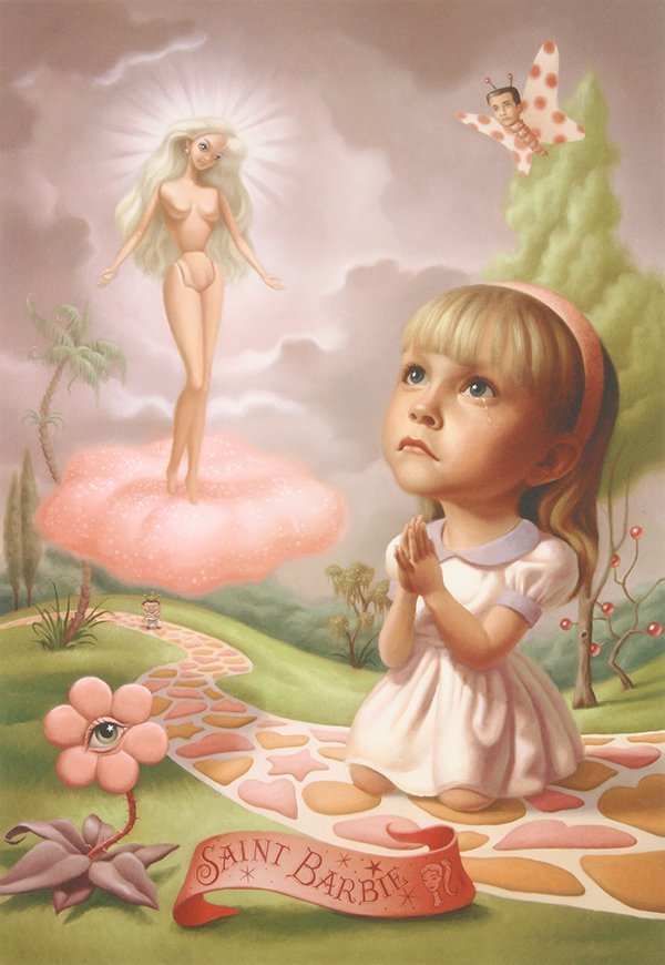 Print, Mark Ryden, Saint Barbie