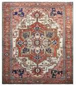 Antique Persian Serapi carpet, circa 1890, 8'6'' x