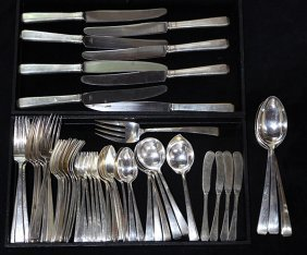 American Towle Sterling Silver Flatware Service For