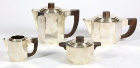 French Art Deco .950 Silverr Hot Beverage, Coffee And