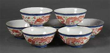 Chinese Porcelain Bowls Dragons