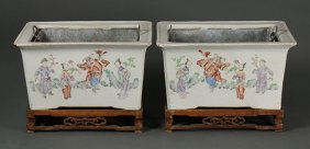 Two Chinese Porcelain Planters