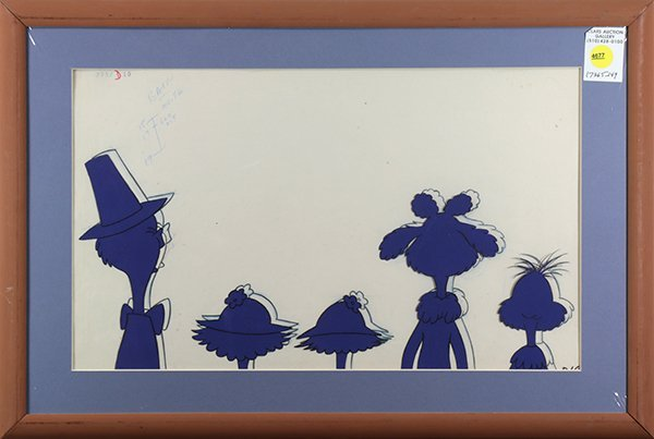 Drawing and Animation cel by Dr. Seuss, The Lorax