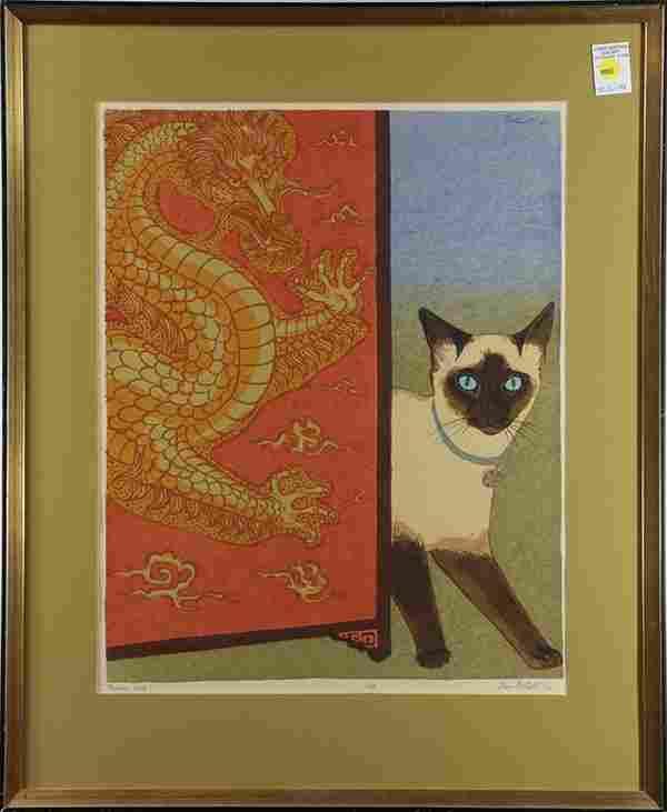 Print, Dorr Bothwell, Palace Cat