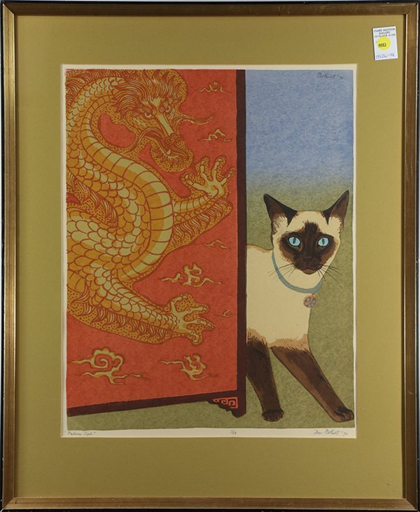 Print, Dorr Bothwell, Palace Cat