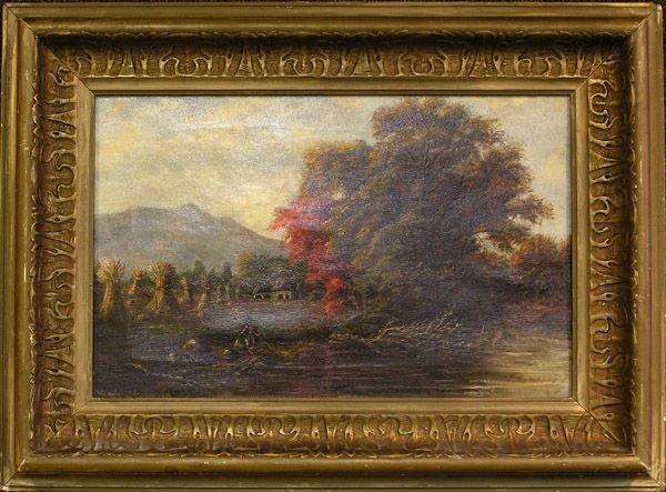 6001: Oil, Landscape, Continental 19th