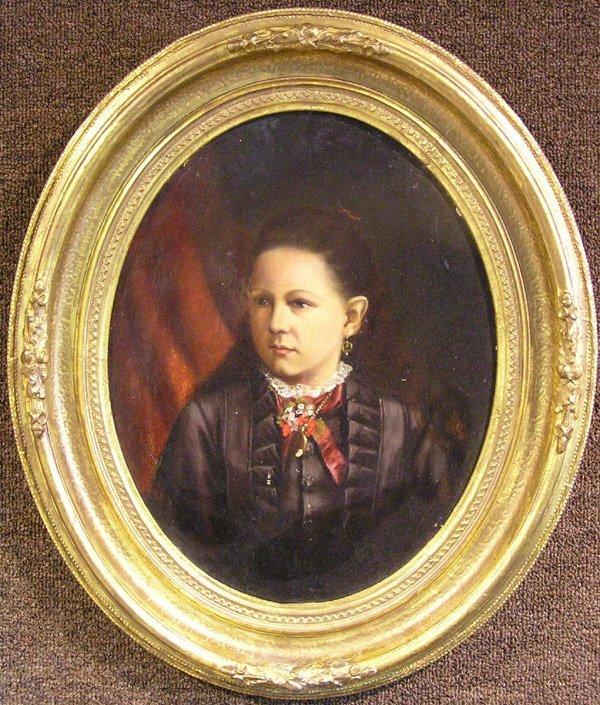 6004: Oil, Portrait, American 19th