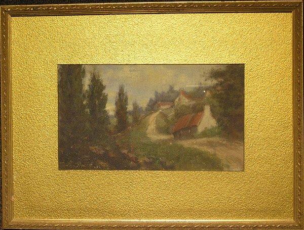 6005: Oil, landscape, Barbizon-style