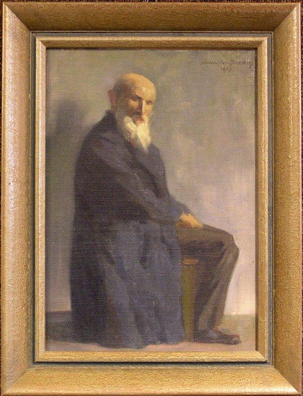 6010: Oil, Portrait, B. Schneider-Blumberg