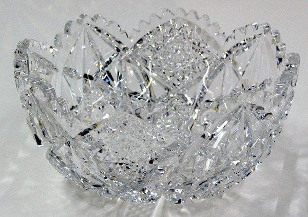 6014: Hawkes brilliant cut crystal bowl