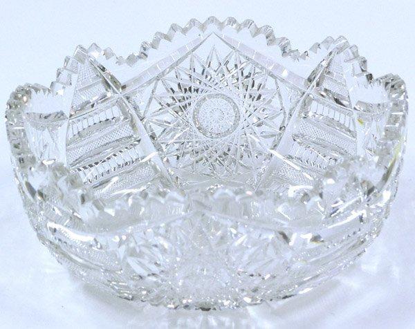 6023: Brilliant cut crystal bowl