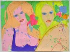 6319: Acrylic, Walasse Ting, CoBrA, Chinese