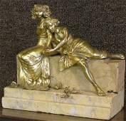6591 C Kauba Bronze Figural Group