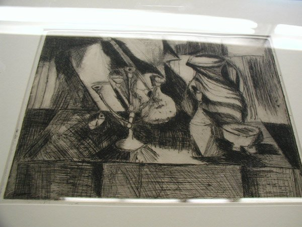 3: Framed etching, contemporary