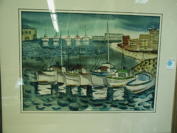 6: Watercolor, by Fisk, contemporary