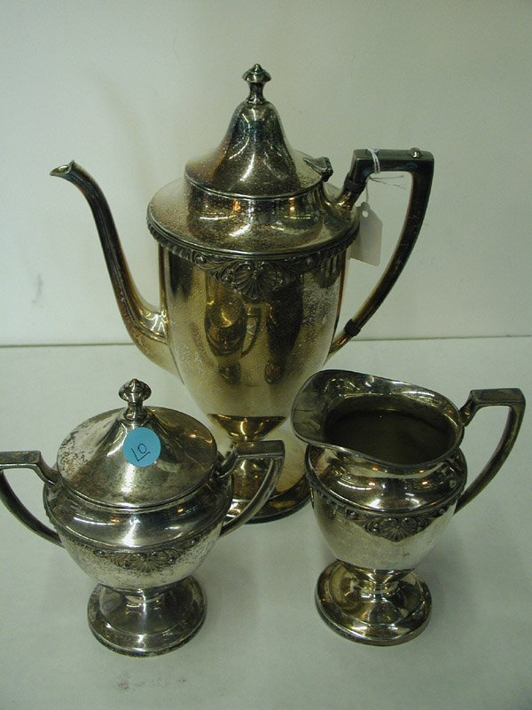 10: Silverplate coffee service
