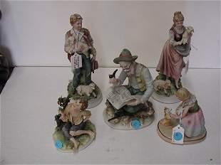Handpainted porcelain figural groups